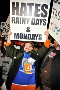 Kevin Smith protesting