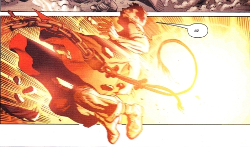"Superman saying ""GD"" in Action Comics #1"