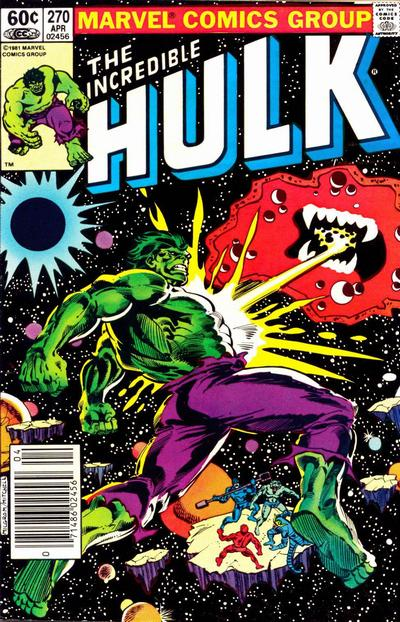 Incredible Hulk 270 cover