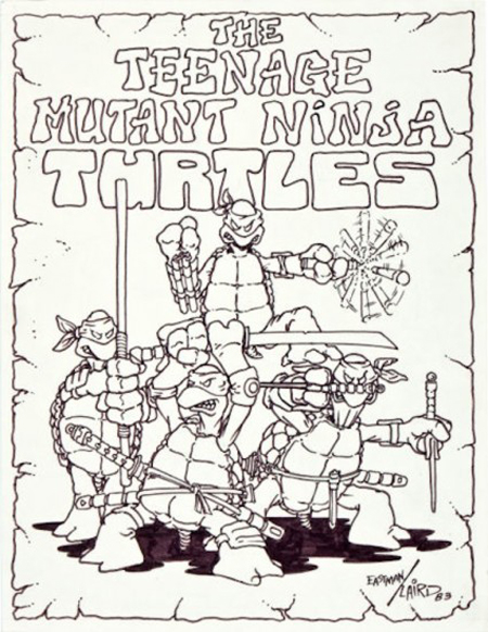 TMNT original drawing 1983