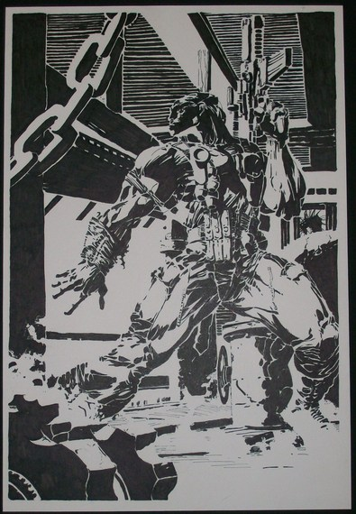 Deathblow splash by Mike Hansen (after Jim Lee)