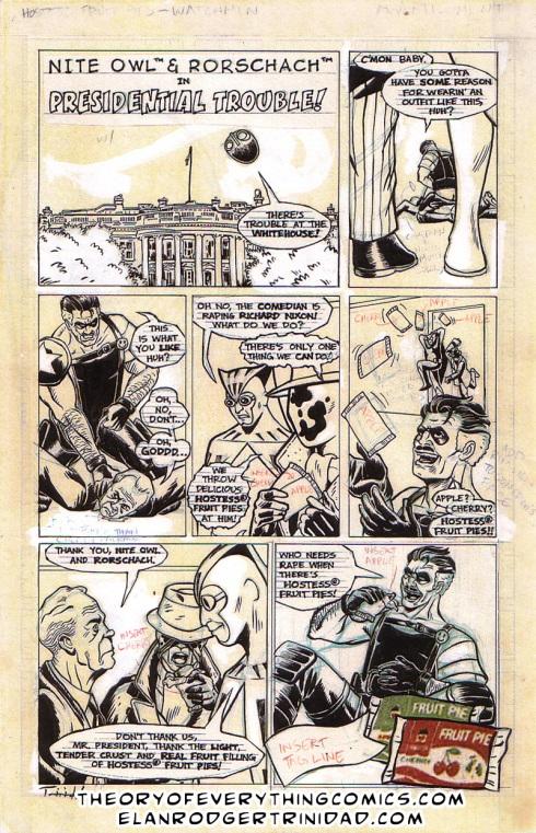 Watchmen Hostess parody ad