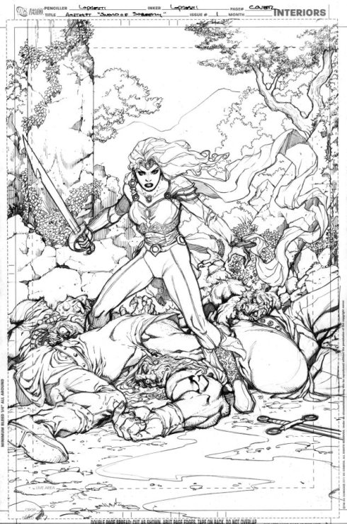 Sword of Sorcery #1 rejected cover