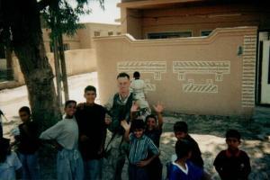 Author Richard C. Meyer in Iraq