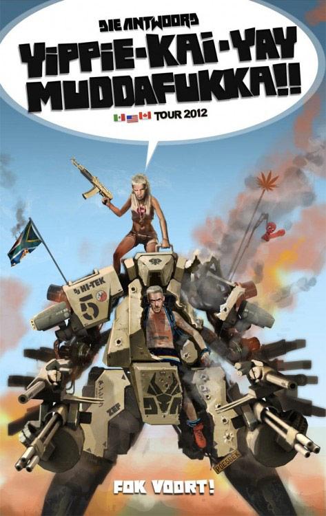Die Antwoord tour poster