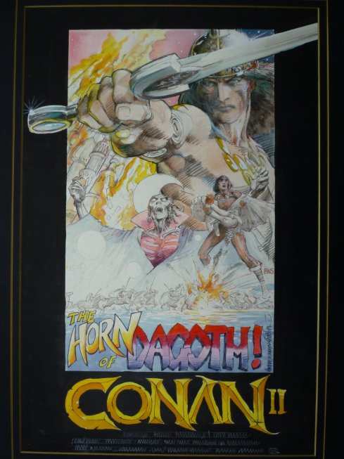 Conan movie poster concept by BWS