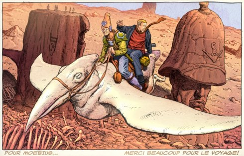 Moebius tribute art by Chris Weston