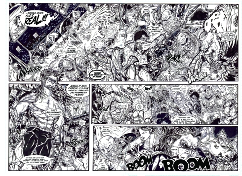 The Beat Down p4-5 SPREAD lettered inks low-res