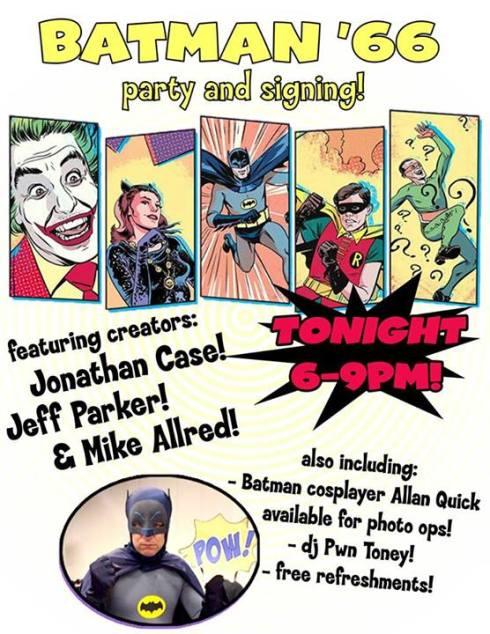 Batman '66 signing poster