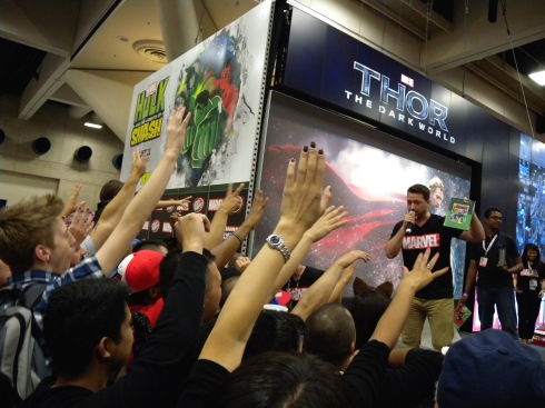 The Marvel area on the show floor was always packed.