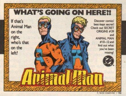 Animal Man origins ad