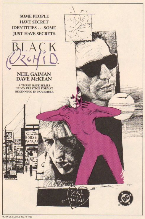 Black Orchid ad by Dave McKean